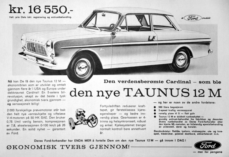 Ford Taunus Reklame Norge_1