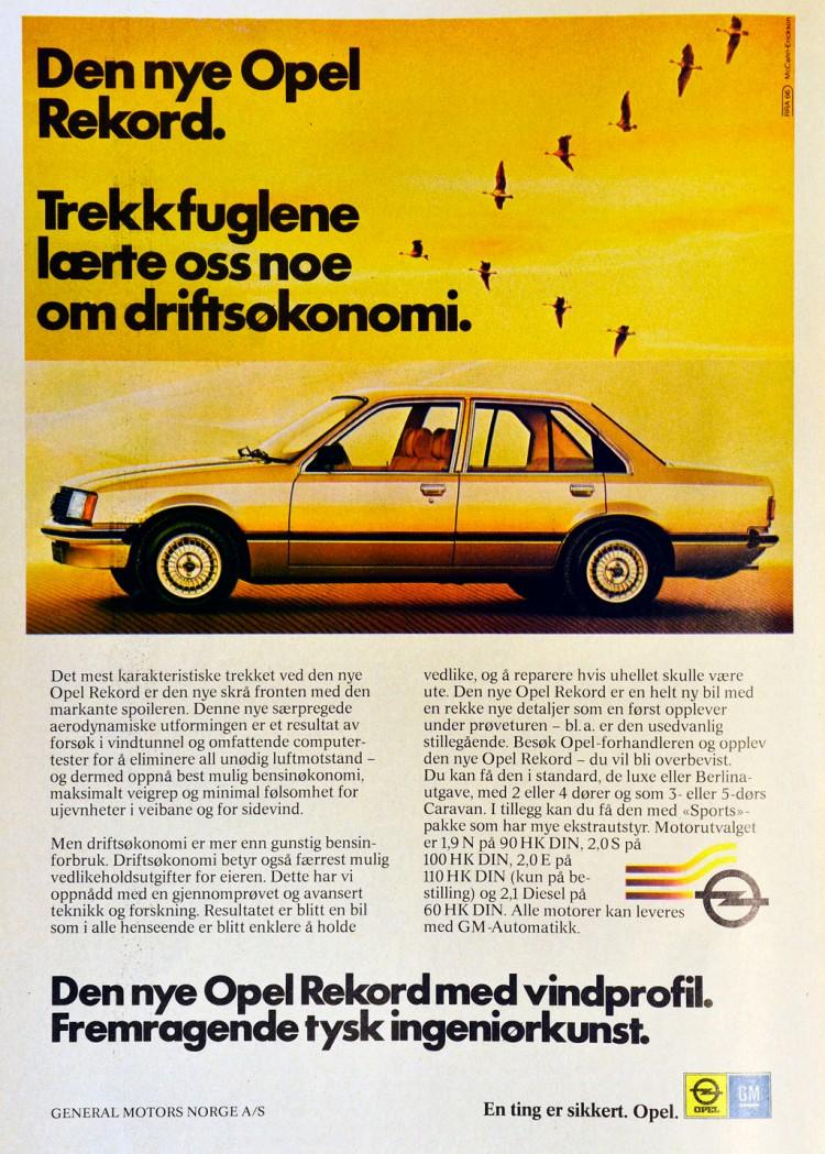Opel Rekord Reklame Norge_2