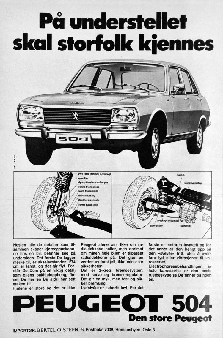 Peugeot 504 Reklame Norge_1