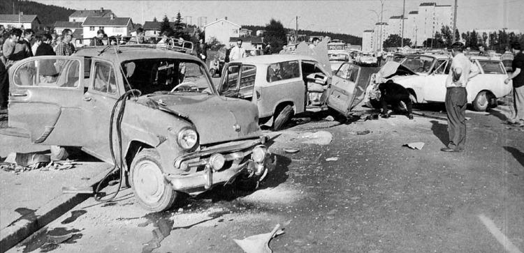 Ulykke Trondheimsveien Oslo 1965