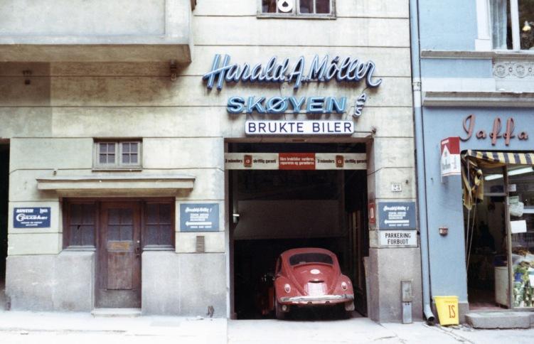 Møller Skøyen Bruktbilavdeling ca 1965