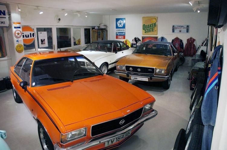 Tre Opel Coupeer Rud Vintage Garage